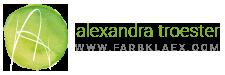 Alexandra Troester | www.farbklaex.com Logo
